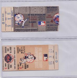 Four 1969 Mets Postseason Ticket Stubs