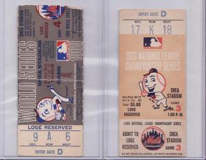 1969 Mets Tickets stubs