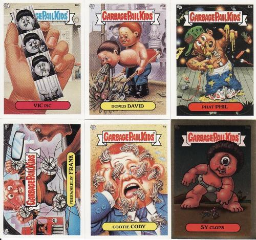 Garbage Pail Kids Vic Pic Duped David Phat Phil Freewheelin Frank Cootie Cody Sy Clops