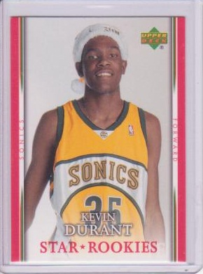 Kevin Durant In A Santa Hat Rookie Card Shot Not Taken