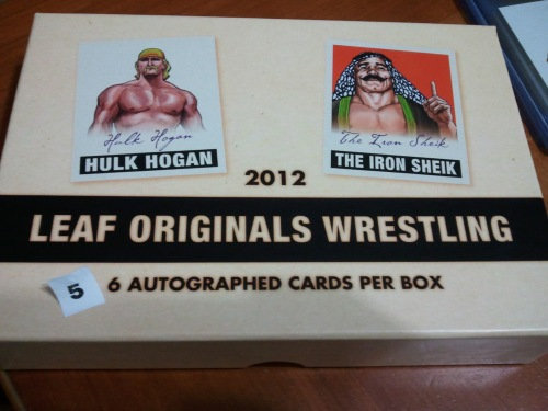 2012 Leaf Orginals Wrestling box