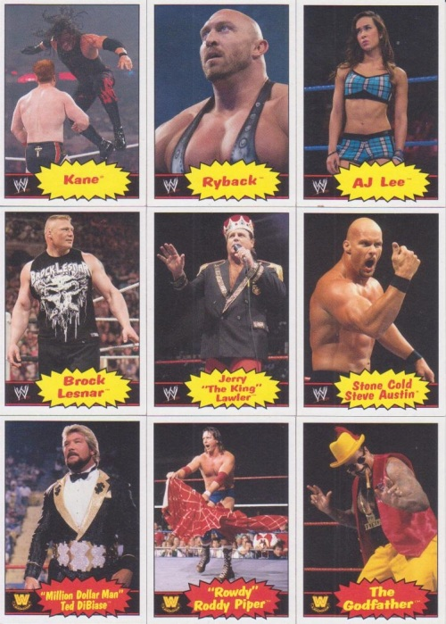 2012 Topps WWE Heritage Base