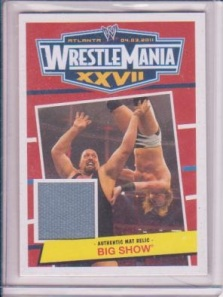 Big Show Wrestlemania Mat Relic Card