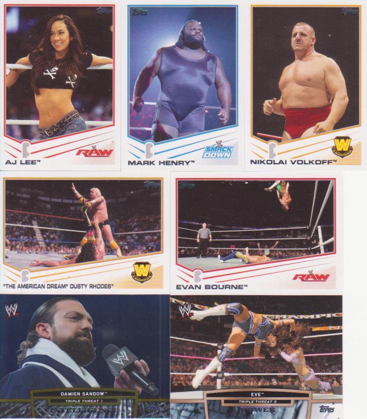 2013 Topps WWE Rack Pack Break