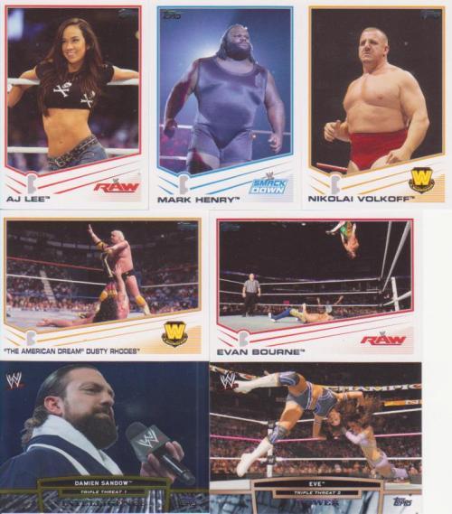 2013 Topps WWE Rack Pack