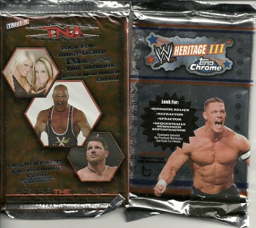 Topps Chrome WWE Heritage III and Tristar TNA Cross the Line
