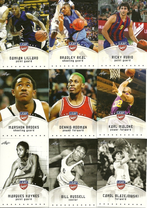 2012 Leaf Basketball Base