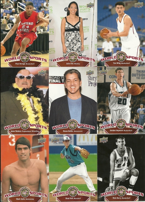 A couple of 2010 Upper Deck World of Sports cards