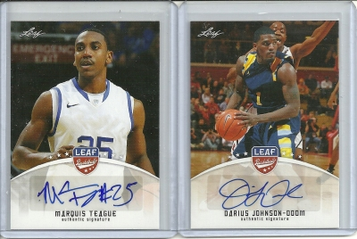 Marquis Teague and Daruis Johnson Odom Autograph