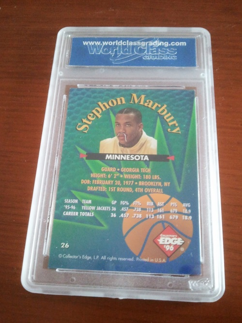Stephon Marbury Gem Mint Back