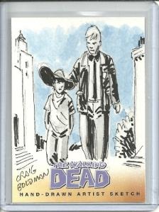 The Walking Dead Sketch Card