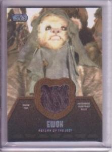 Topp Star Wars Jedi Legacy Ewok Relic Card