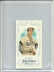 Sandy Koufax rip card mini front