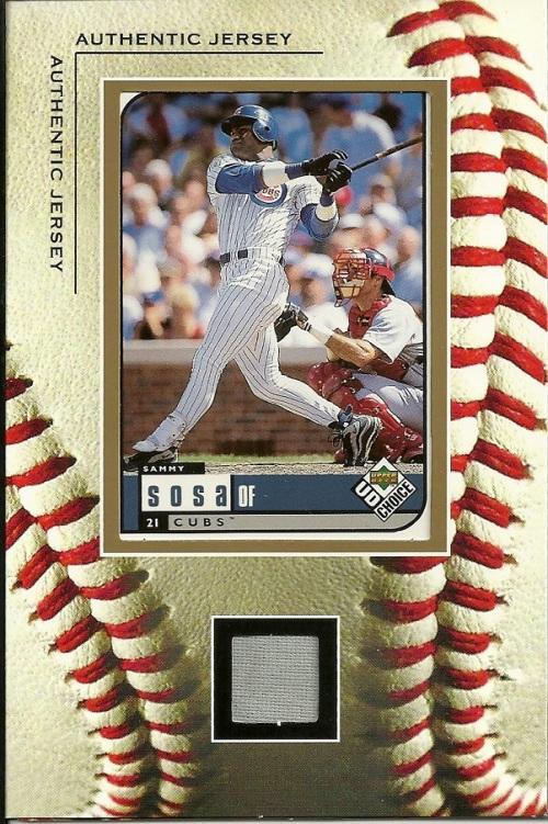Sammy Sosa Jersey Card Frame