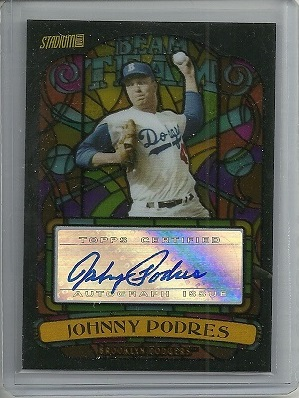 Johnny Podres Beam Team Autograph