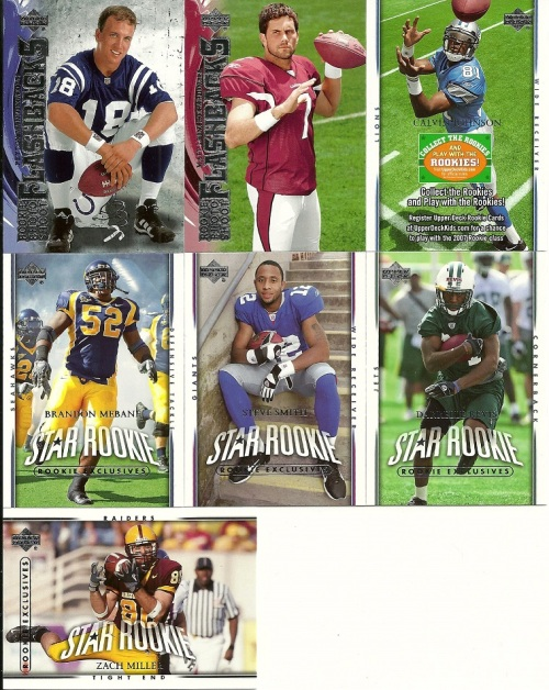 2007 Upper Deck Football Rack Pack