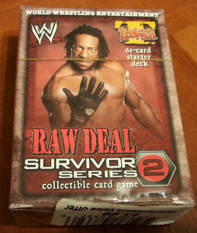 Booker T Starter Deck from Raw Deal Survivor Series 2