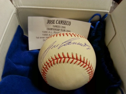 Jose Canseco Signed Baseball