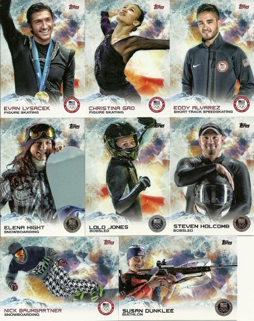 2014 Topps U.S. Olympic and Paralympic & Hopefuls Base and Parallels