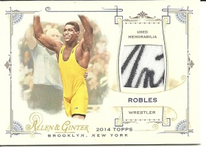2014 Topps A&G Anthony Robles Event Used Signed Card