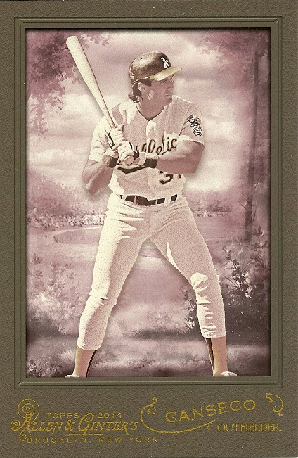 2014 Topps A&G Jose Canseco Box Topper