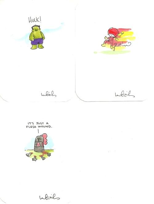 Katie Cook Mini Paintings