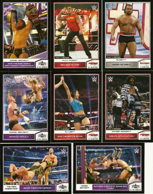 2014 Topps Road to Wrestlemania Base Cards