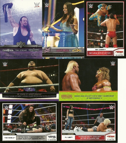 2014 Topps Road to Wrestlemania Inserts and Parallels