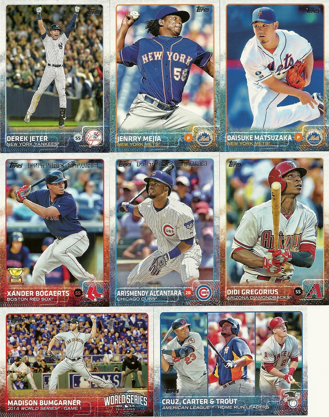 2015 Topps Baseball Series One Jumbo Pack Shot Not Taken