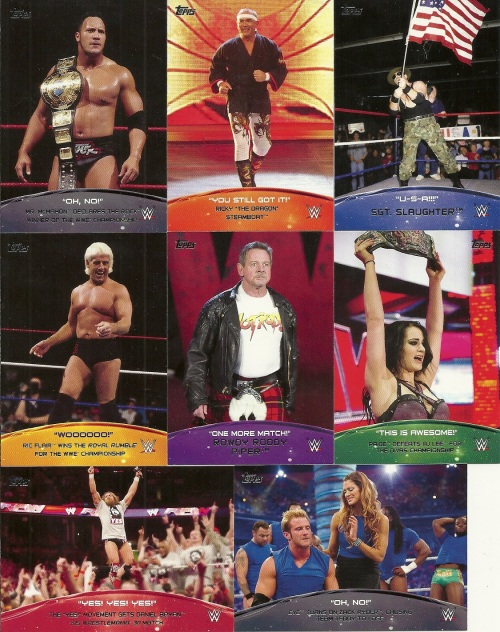 2015 Topps WWE Crowd Chants