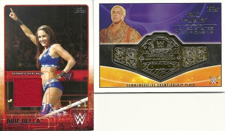 Brie Bella Shirt Card Ric Flair Belt Card