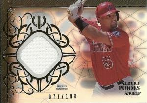 2015 Topps Tribute Baseball Albert Pujols Relic Card