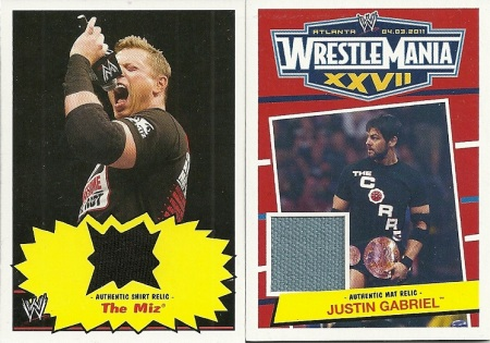 Miz and Justin Gabriel Relic Cards
