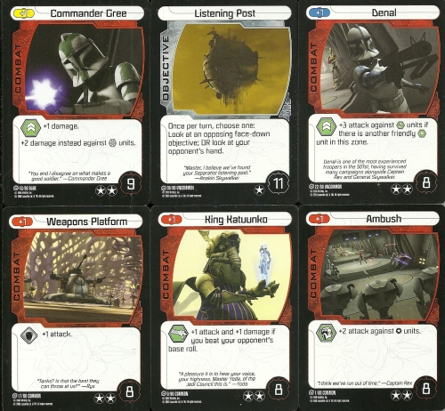 Star Wars Pocketmodel TCG Tactics Cards