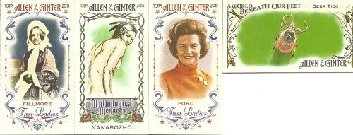 2015 Allen & Ginter Mini Inserts