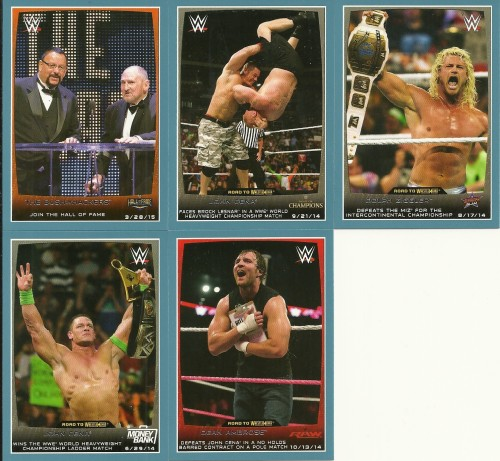 Topps Road to Wrestlemania Parallels
