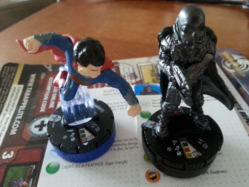 Superman and General Zod Heroclix