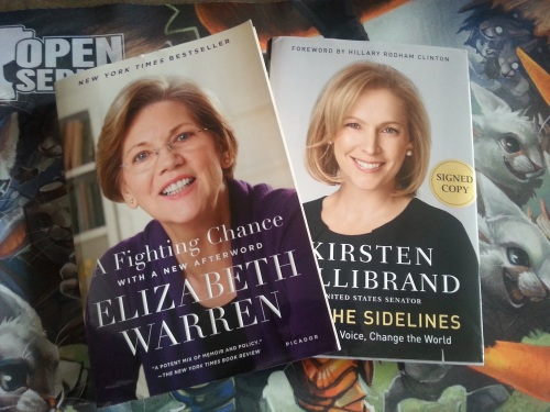 Elizabeth Warren and Kirsten Gillibrand Signed Books