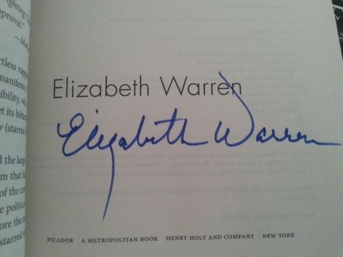 Elizabeth Warren Autograph
