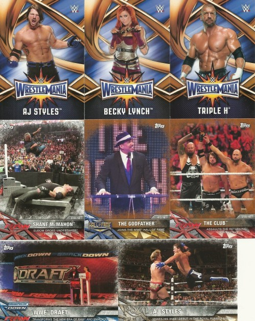 2017 topps wwe road to wrestlemania
