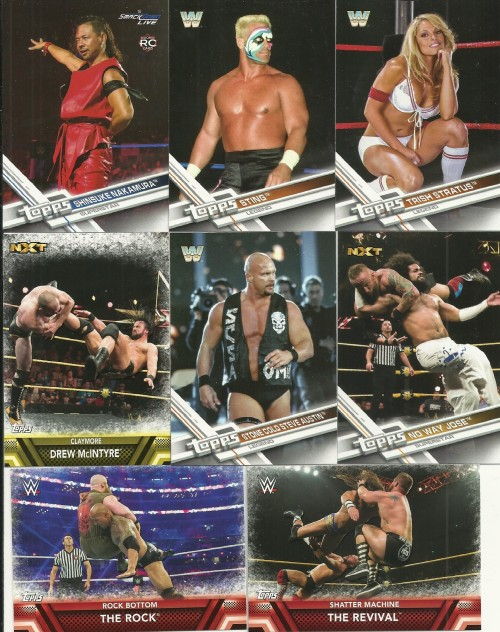 2017 Topps WWE Then Now Forever Cards