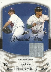 Hideo Nomo and BJ Upton Jersey Card