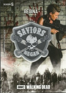 Regina Walking Dead Patch Card