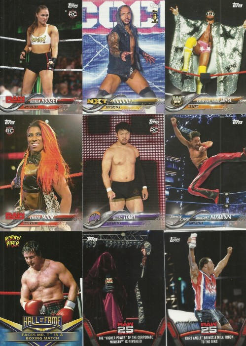2018 Topps WWE Then Now Forever Cards
