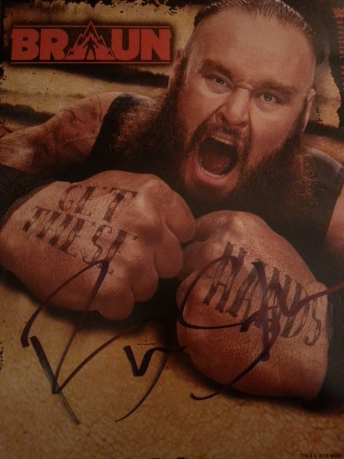 Braun Strowman Signed Photo