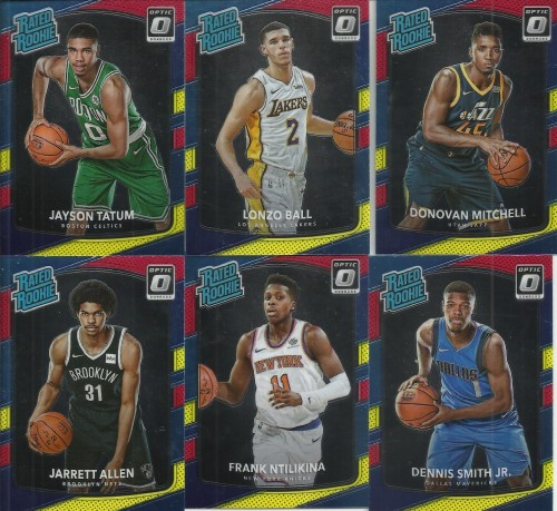 2017 18 Donruss Optic Basketball Rookie Cards