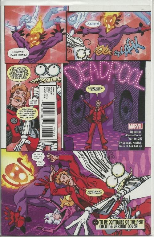 Deadpool Secret Comic Variant