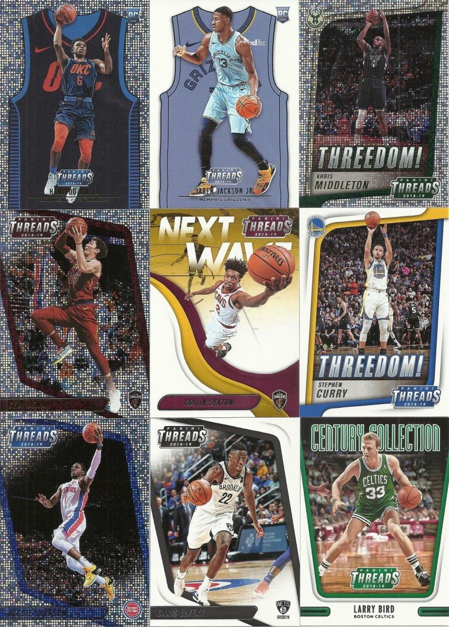 2018-19 Panini Threads Basketball Hanger Box Cards