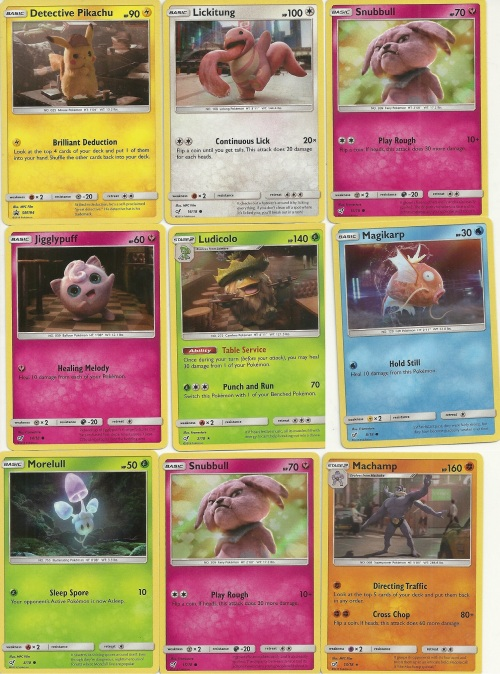 Detective Pikachu Cards