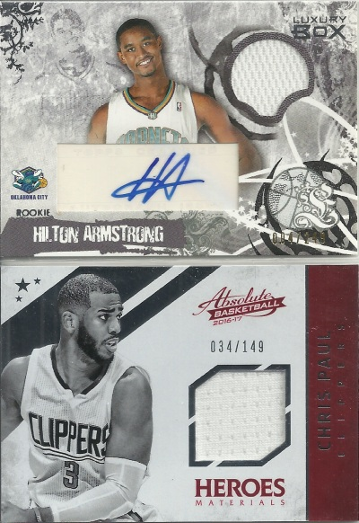 Chris Paul Jersey Card and Hilton Armstrong Autograph